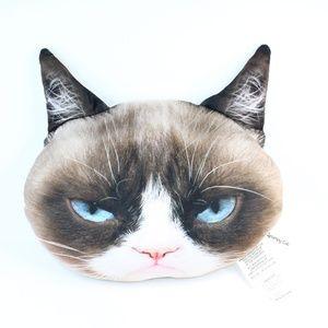 "Grumpy Cat 18"" Plush Realistic Face Throw Pillow"